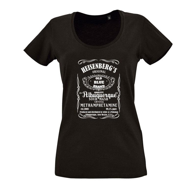 Heisenberg Whiskey Label O nyakú női póló