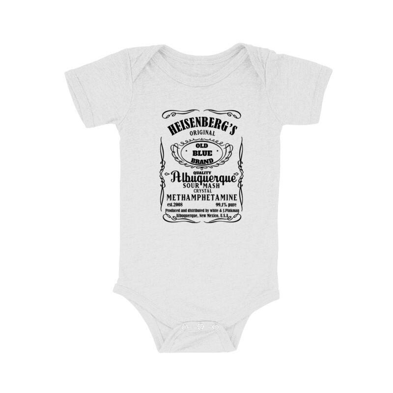 Heisenberg Whiskey Label Bébi body