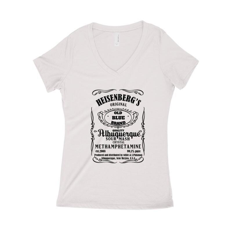 Heisenberg Whiskey Label Női póló V kivágott