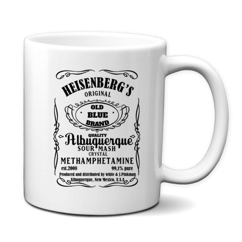 Heisenberg Whiskey Label Bögre