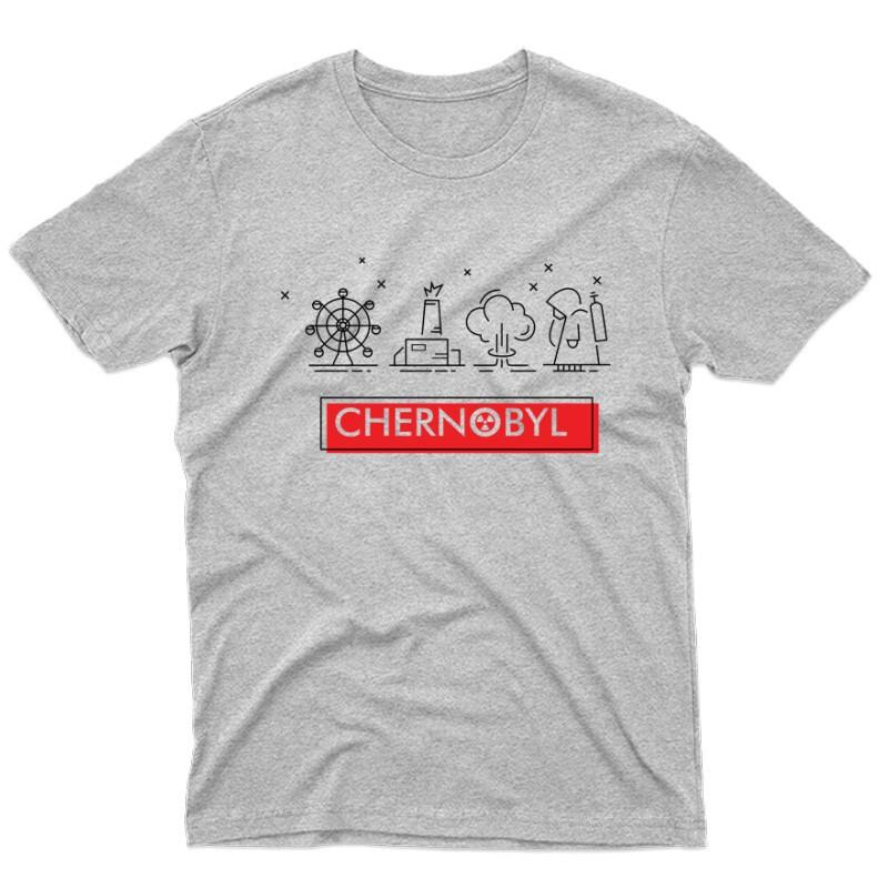 Csernobil Pictogram Férfi póló