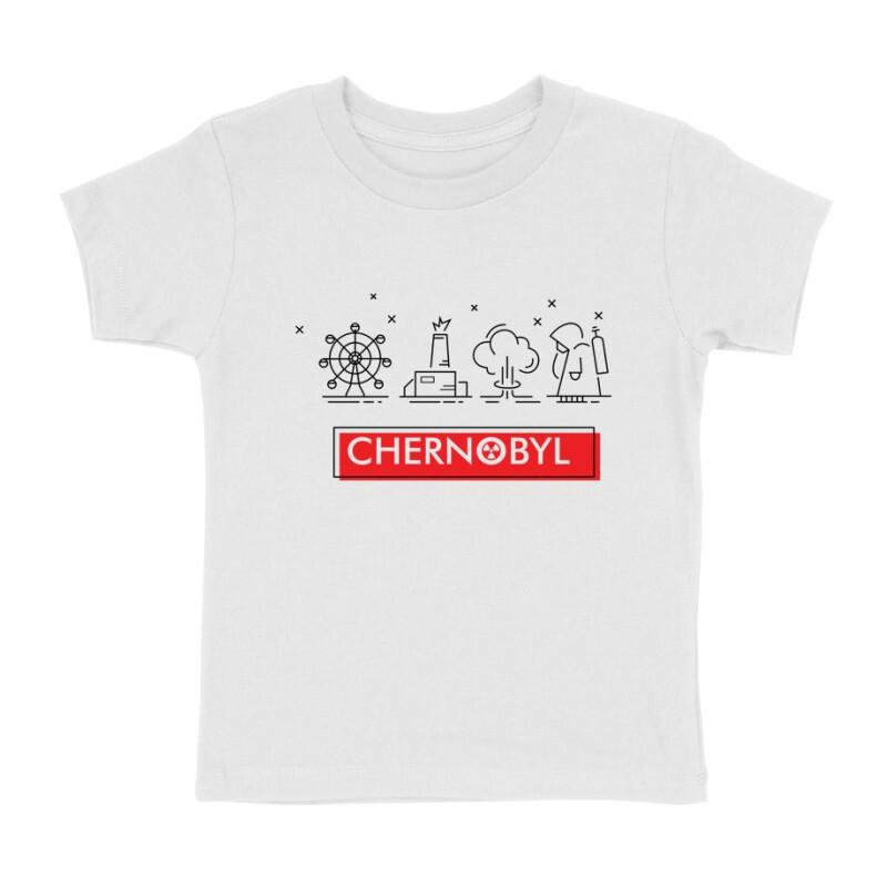 Csernobil Pictogram Gyermek póló