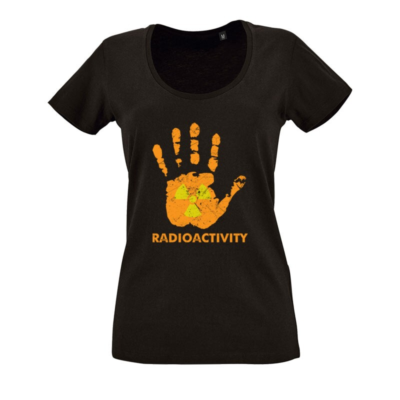 Radioactivity O nyakú női póló