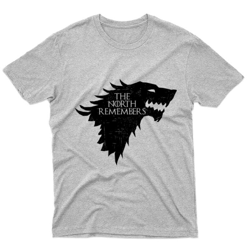 The North Remember(Wolf) Férfi póló