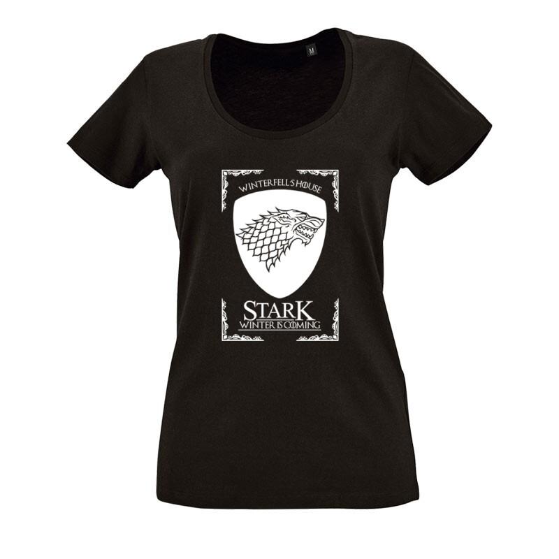 Winterfell's House O nyakú női póló