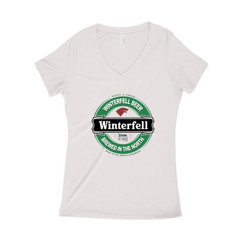 Winterfell Beer Női póló V kivágott