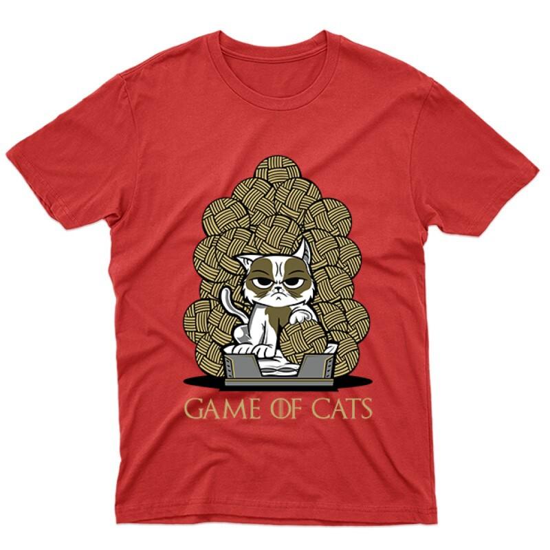 Game Of Cats Férfi póló