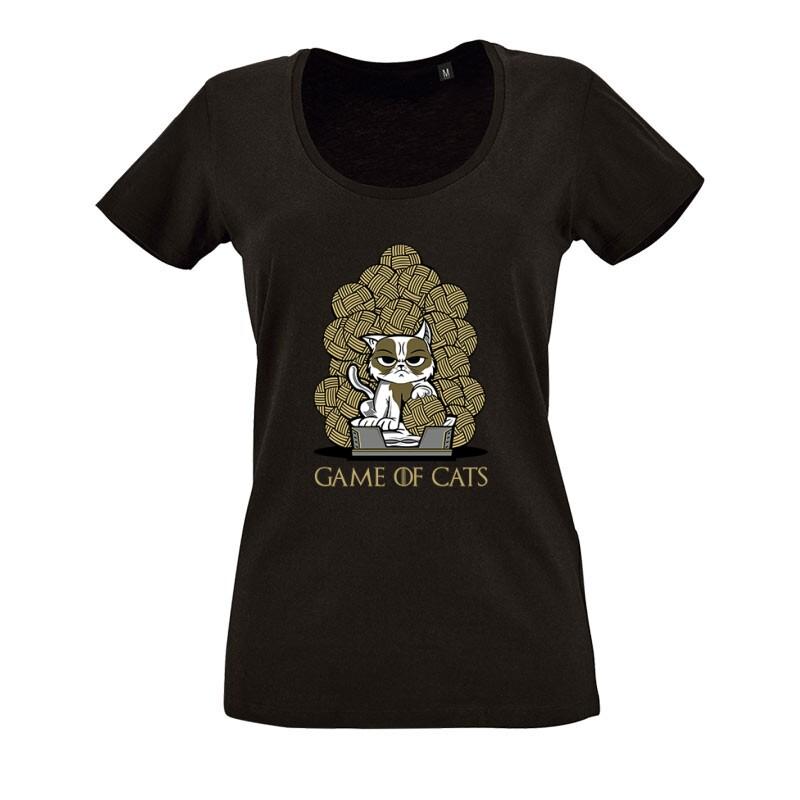 Game Of Cats O nyakú női póló