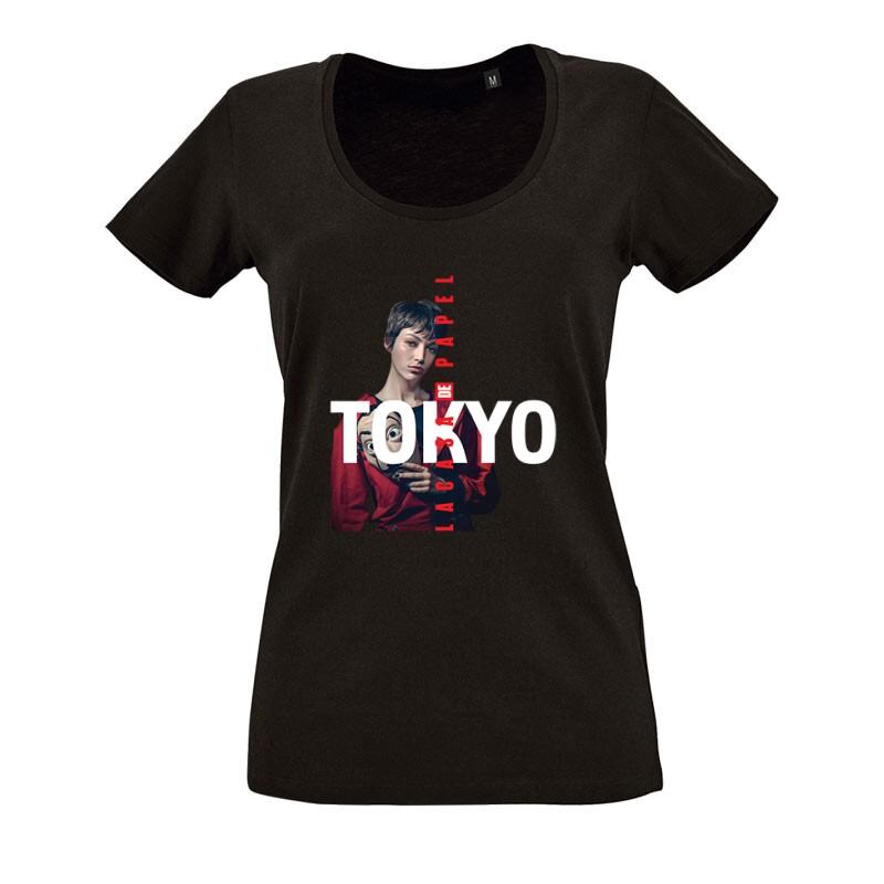 Tokyo Minimal Color O nyakú női póló