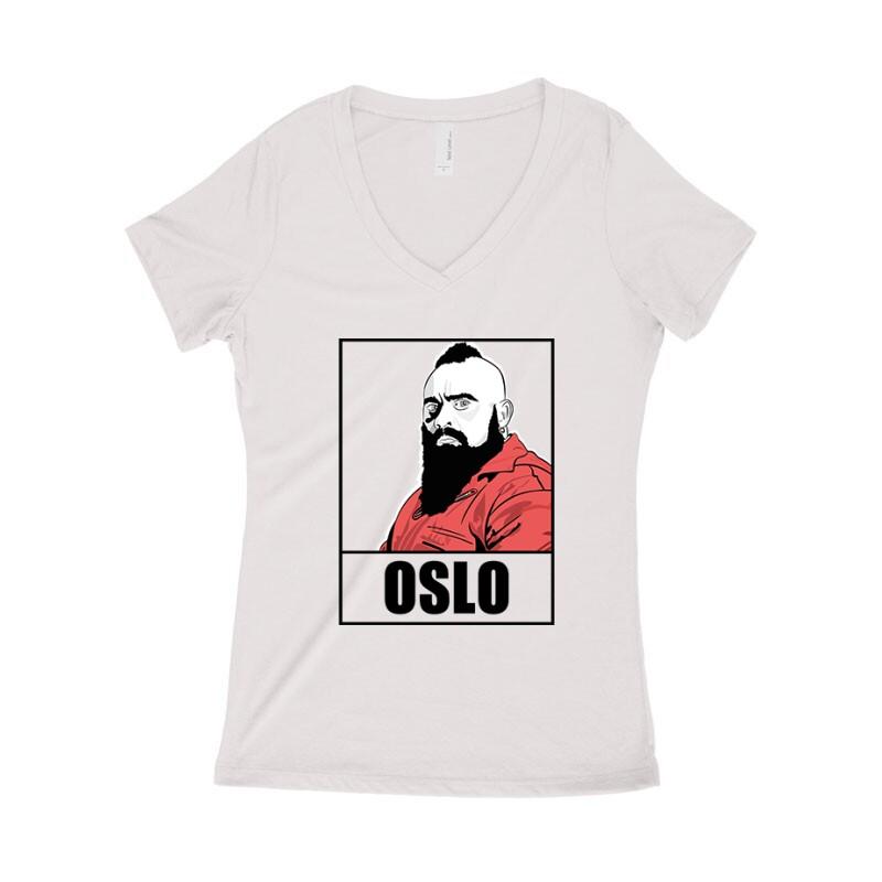 Oslo Minimal Női póló V kivágott