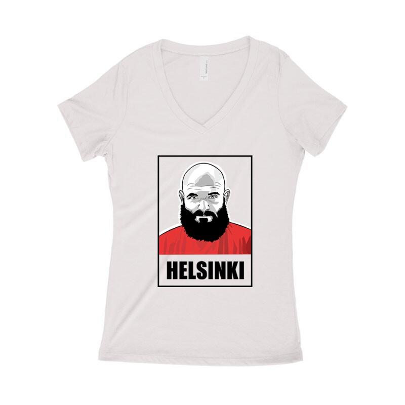 Helsinki minimal Női póló V kivágott