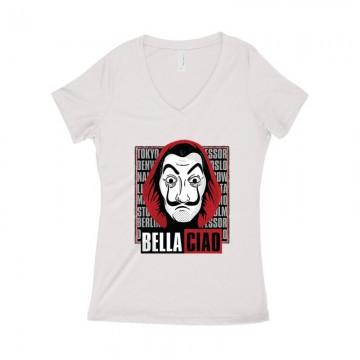 Dali Retro Női póló V kivágott
