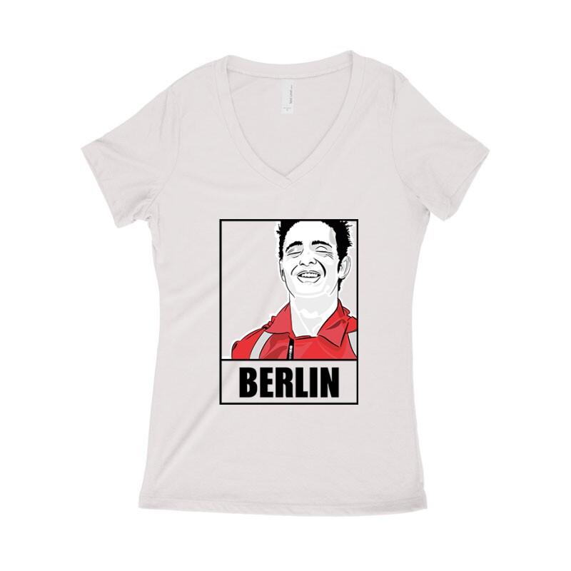 Berlin Minimal Női póló V kivágott