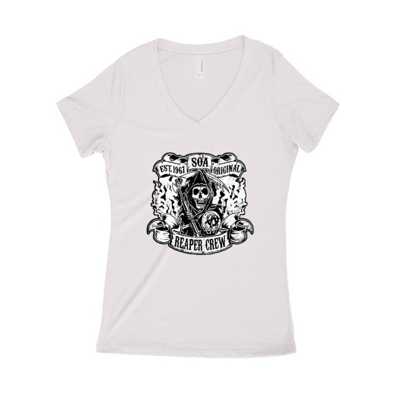 SOA Big Logo Női póló V kivágott