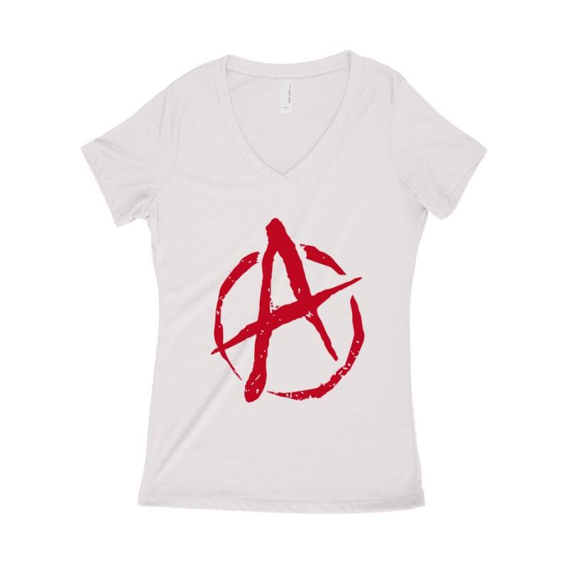 Anarchy Női póló V kivágott