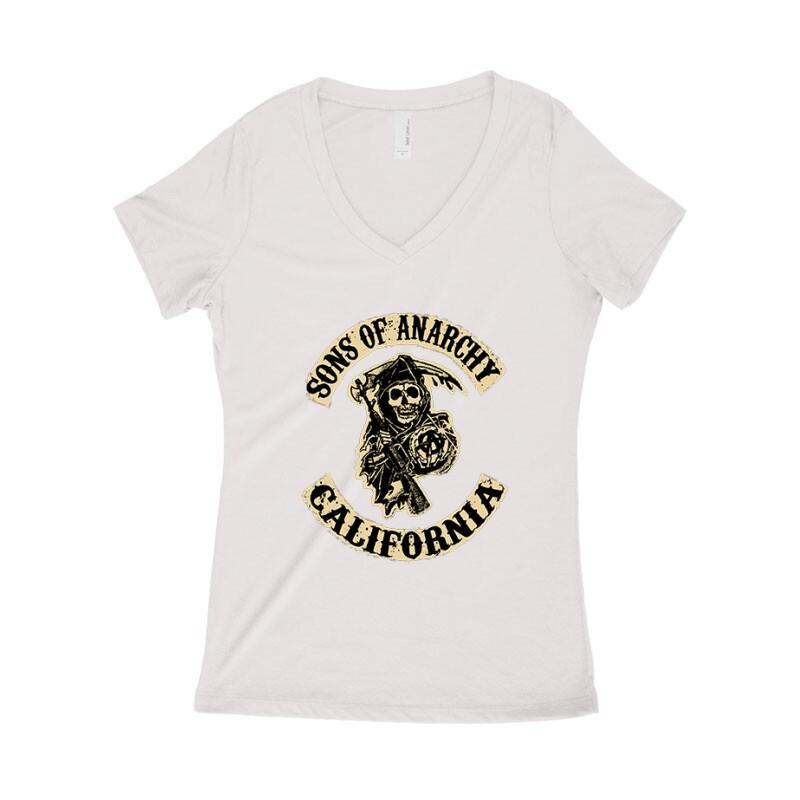 SOA Logo Női póló V kivágott