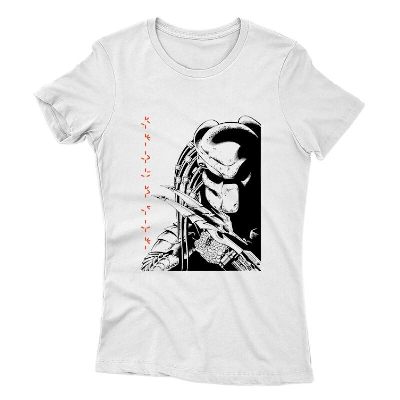 Predator Face Text Női póló