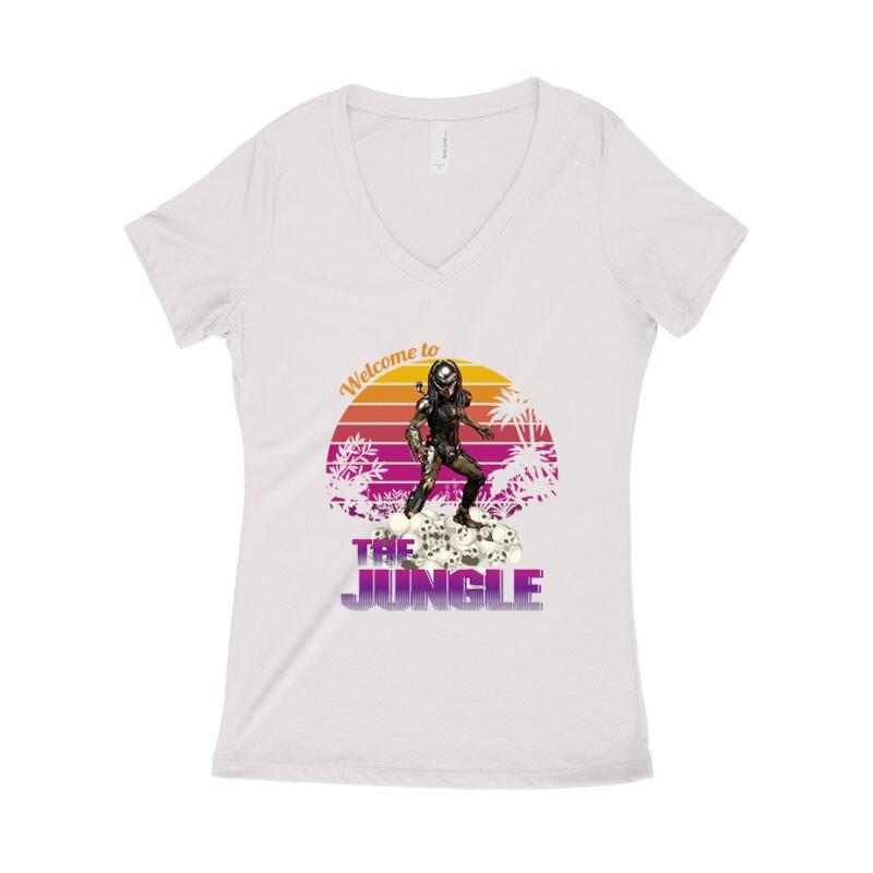 Welcome To The Jungle Női póló V kivágott