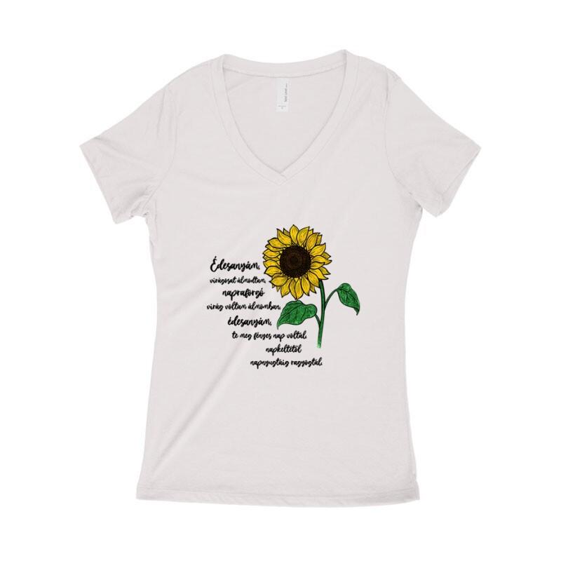 Virágosat Álmodtam Női póló V kivágott
