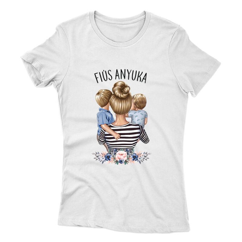 Fiús Anyuka (Gyerekekkel) Női póló