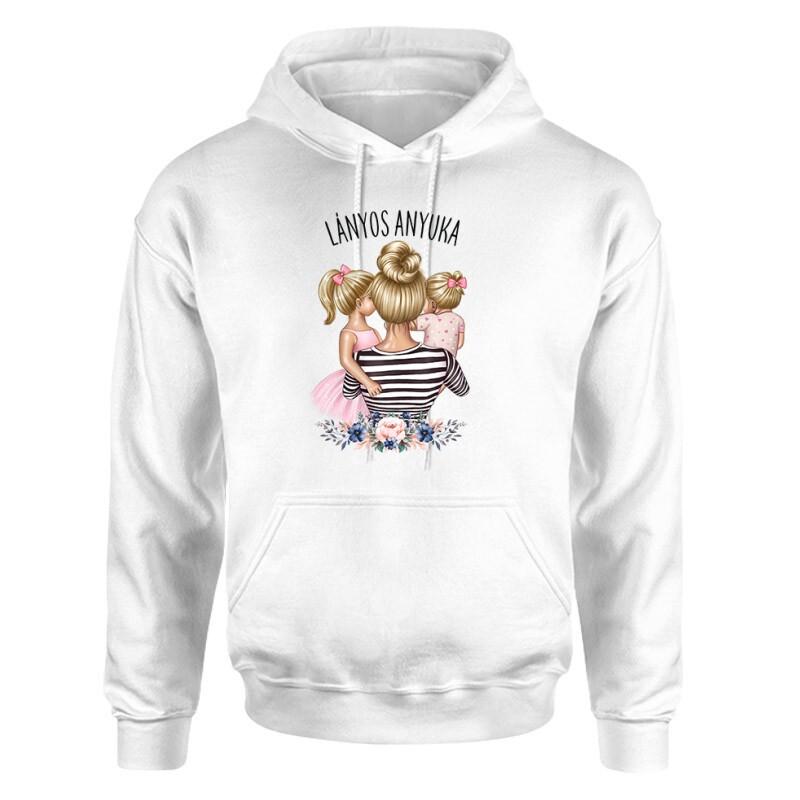 Lányos Anyuka (Gyerekekkel) Unisex pulóver