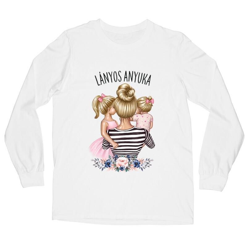 Lányos Anyuka (Gyerekekkel) Hosszú ujjú póló