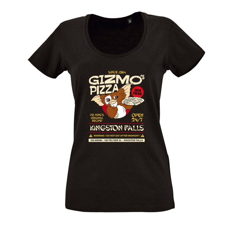 Gizmo Pzza O nyakú női póló
