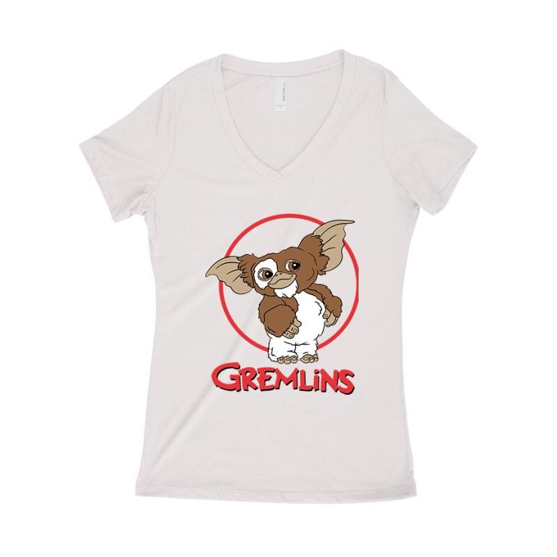Gremlins Női póló V kivágott