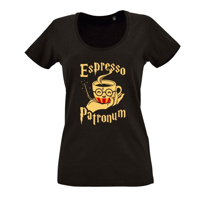 Espresso Patronum O nyakú női póló