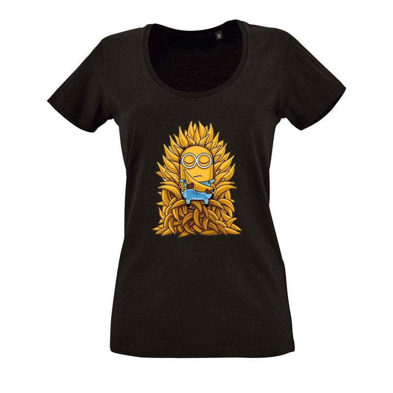 Game Of Thrones Minions O nyakú női póló