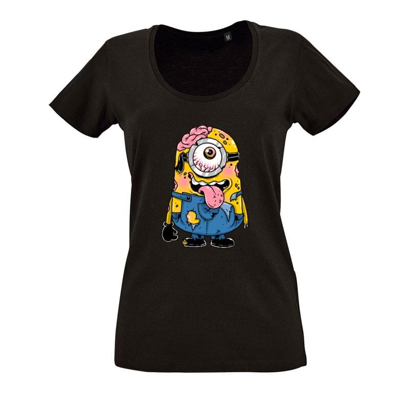 Zombi Minion O nyakú női póló