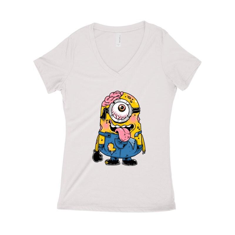 Zombi Minion Női póló V kivágott