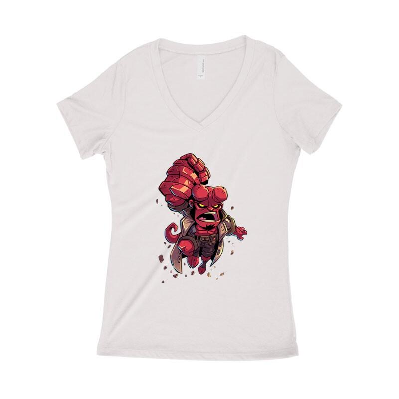 Hellboy Női póló V kivágott