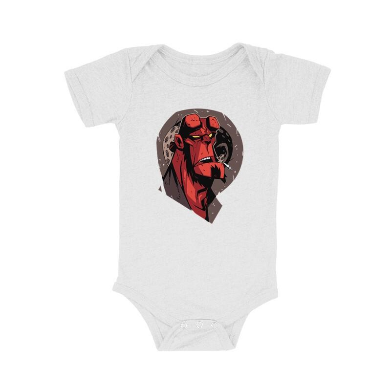 Hellboy Face Bébi body