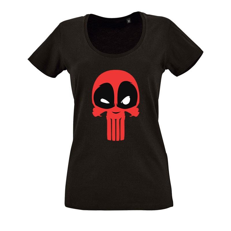 Punisher(DP) O nyakú női póló