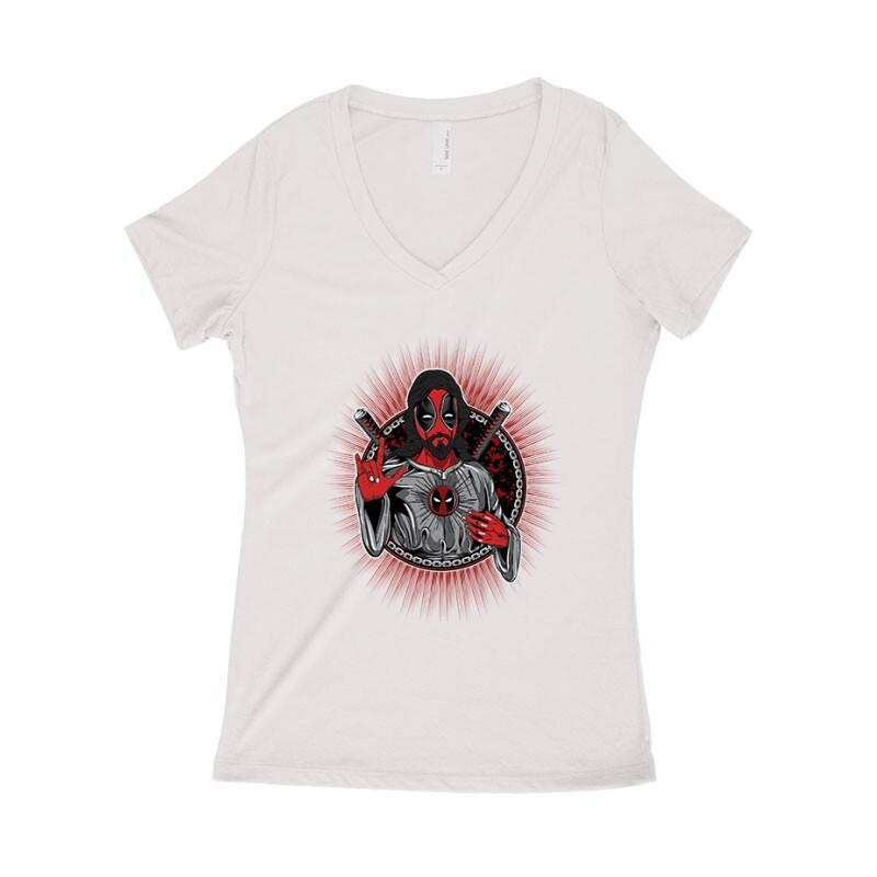 Godpool Női póló V kivágott