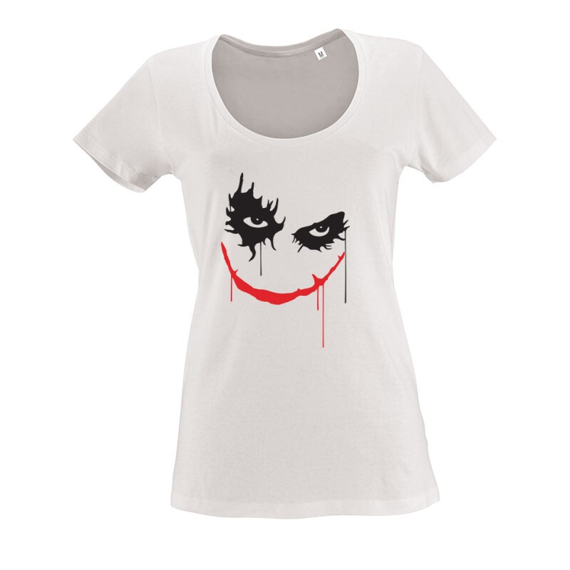 Joker Face O nyakú női póló