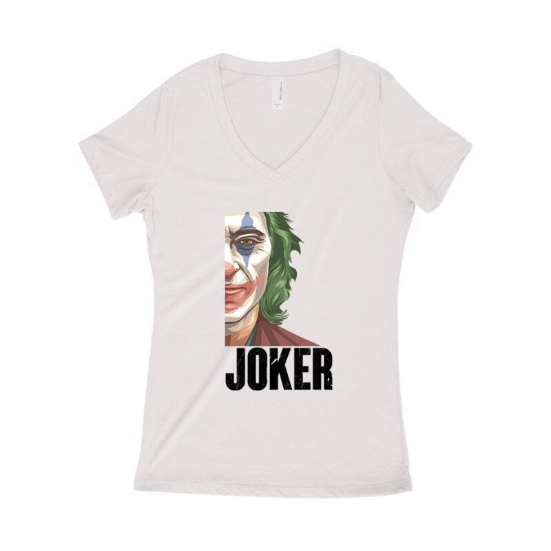 New Joker Face Női póló V kivágott