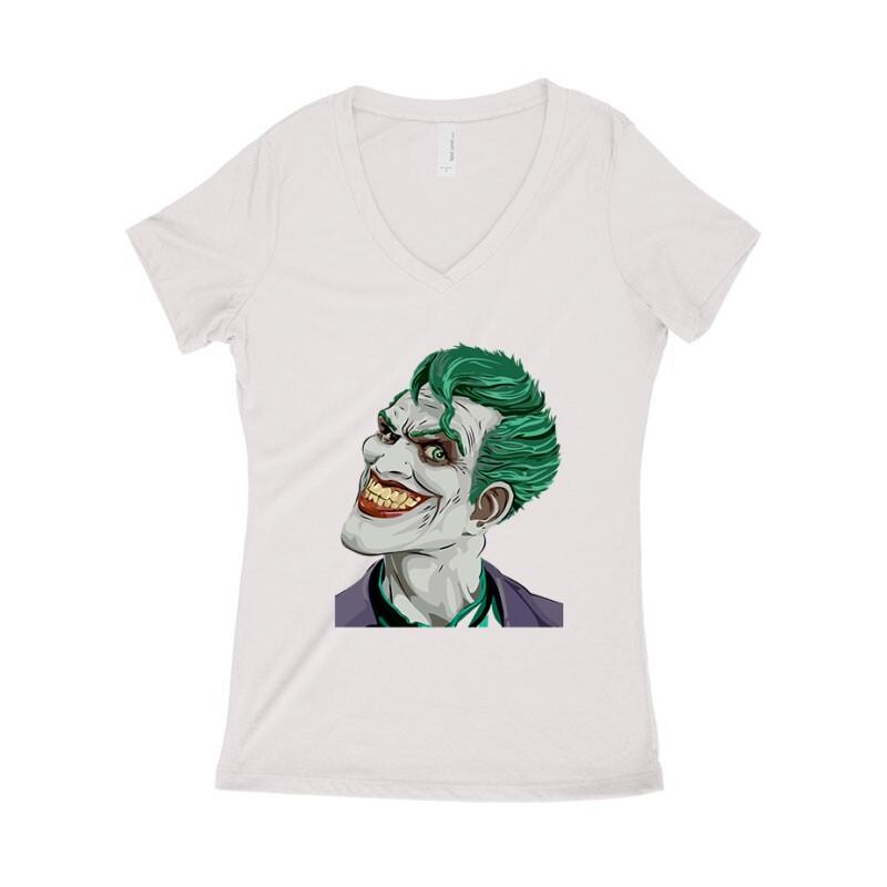 Joker Face Color Női póló V kivágott