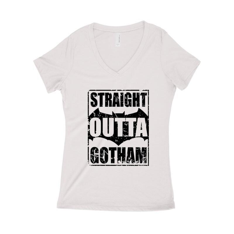 Straight Outta Gotham Női póló V kivágott