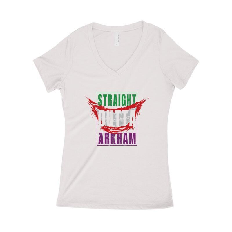 Straight Outta Arkham Női póló V kivágott