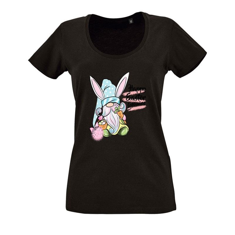 Gnomies Bunny O nyakú női póló