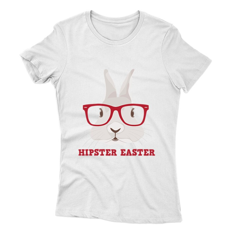 Hipster Easter Női póló