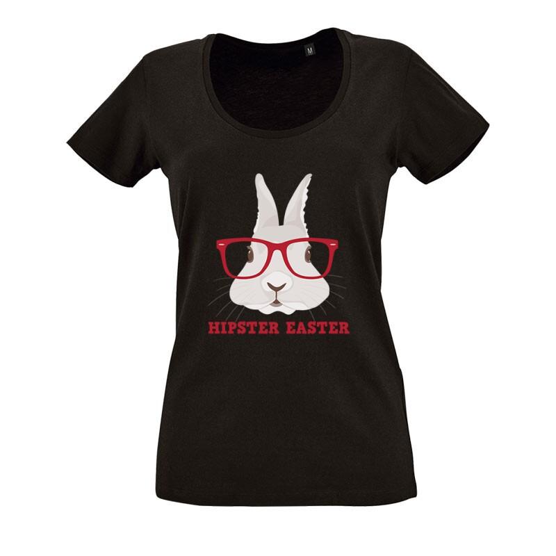 Hipster Easter O nyakú női póló
