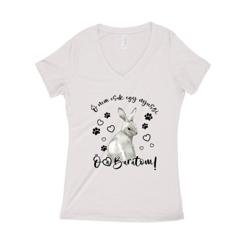 Nem csak egy nyuszi Női póló V kivágott