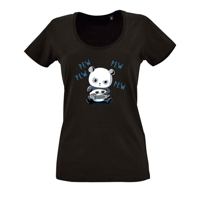 Panda Addiction O nyakú női póló