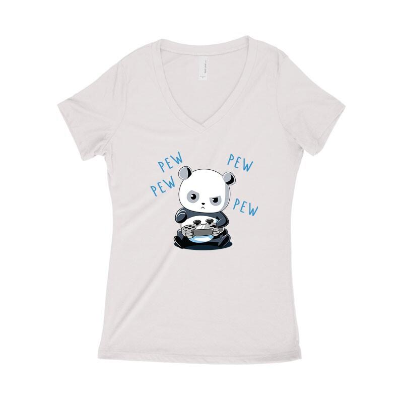 Panda Addiction Női póló V kivágott