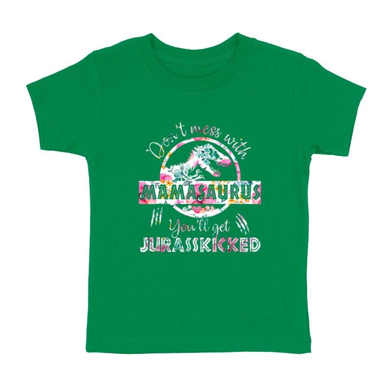 Mamasaurus Flower Gyermek póló