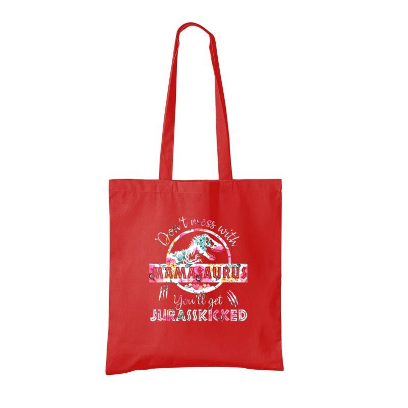 Mamasaurus Flower Bevásárló táska