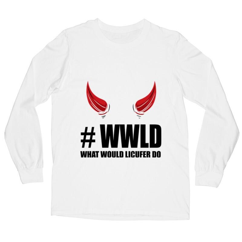 What would Lucifer do ? Hosszú ujjú póló